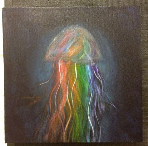 acrylic paint jellyfish colorful jellyfish acrylic painting painting ideas