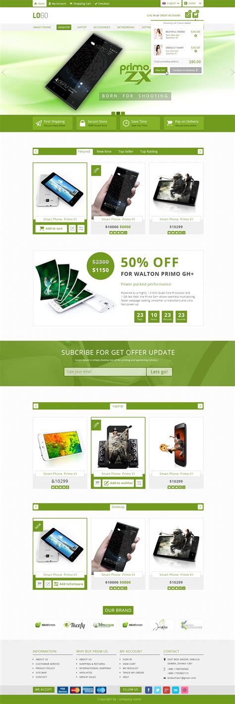 Free Ecommerce Templates by Free Ecommerce Web Templates Psd 187 Css Author
