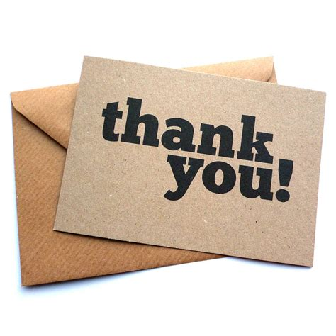 Gift Card Thank You - set of 12 thank you postcard note cards by dig the earth notonthehighstreet com