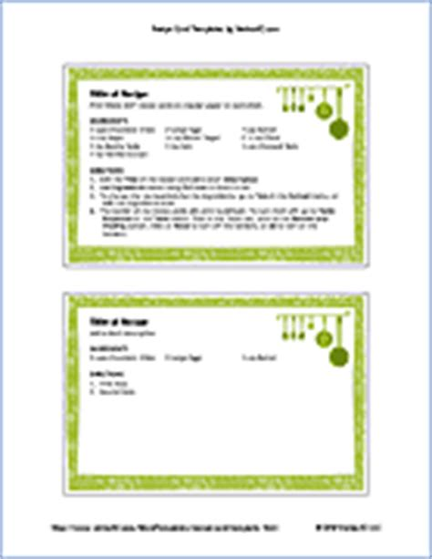 avery 4 x 6 recipe card template free printable recipe card template for word