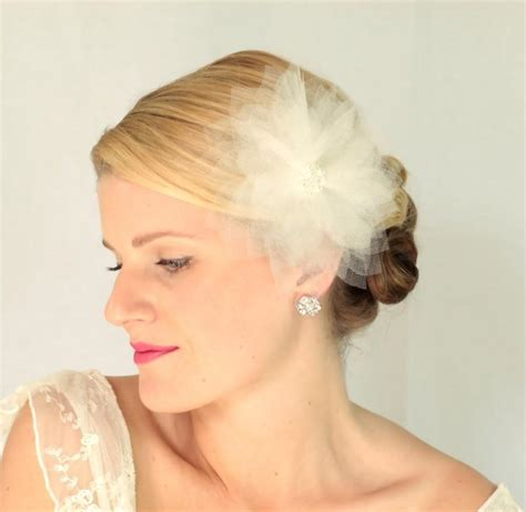 Wedding Hair Accessories Tulle by Bridal Tulle Hair Flower Bridal Hair Accessories