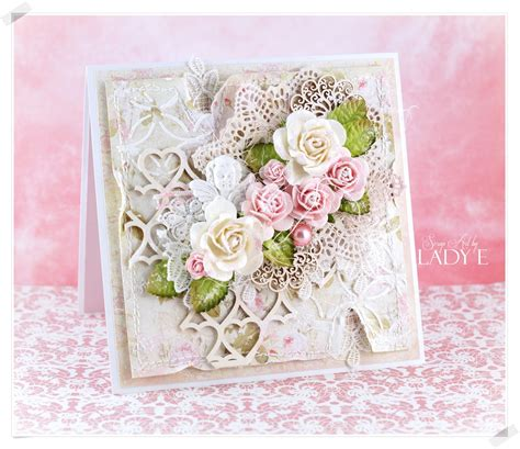 wild orchid crafts romantic shabby chic card video tutorial