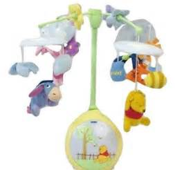 disney winnie the pooh light up cot mobile cot crib soft