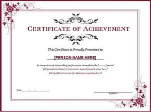 certificate templates best 25 certificate of achievement template ideas on
