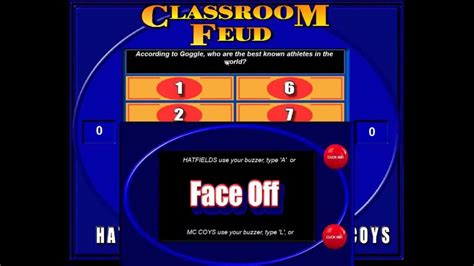 Classroom Feud Demonstration Of A Family Feud Style Game Family Feud Classroom