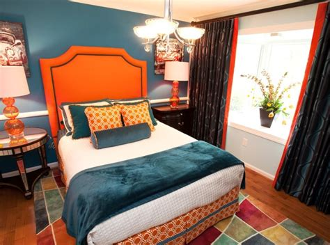 teal and orange bedroom ideas orange and teal guest bedroom