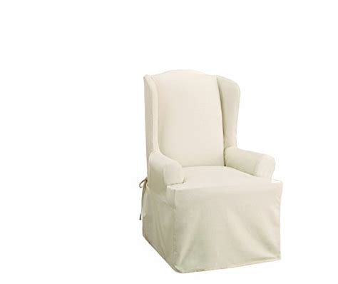 sure fit cotton duck wing chair slipcover sure fit cotton duck wing chair slipcover natural