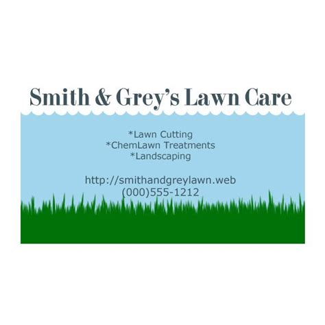 free printable lawncare card templates lawn care business cards five customizable templates