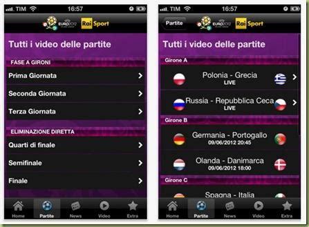 calcio su diretta mobile gli europei di calcio in diretta su iphone con l app