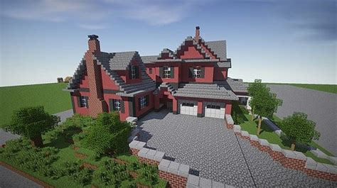 house ideas minecraft red old mansion minecraft building inc