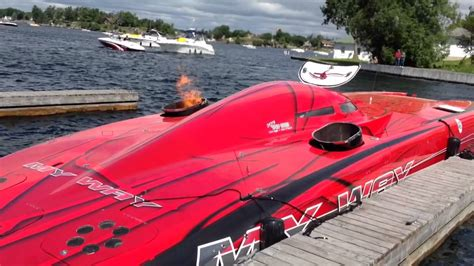 cigarette boat my way my way 1000 islands 2014 start up youtube