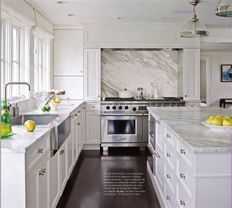 French Country Kitchen Backsplash by White Amp Grey Marble Kitchen Confidential Pinterest