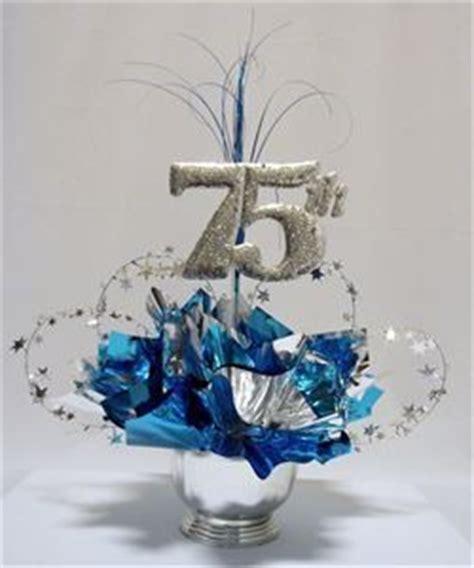 75th Milestone Centerpiece   party   Pinterest   Birthday