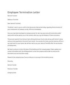 Exle Of Termination Letter To Employee by Doc 585690 Sle Employee Termination Letter 19 Free Termination Letter Templates Free