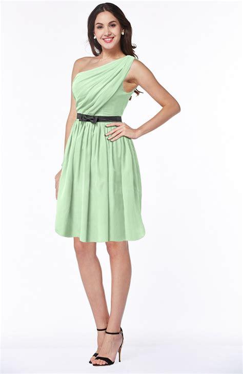 plus size light green dress light green modern zipper chiffon knee length sash plus