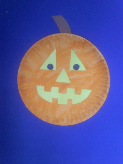 Paper Plate Pumpkin Craft - crafts for preschoolers paper plate pumpkin and o