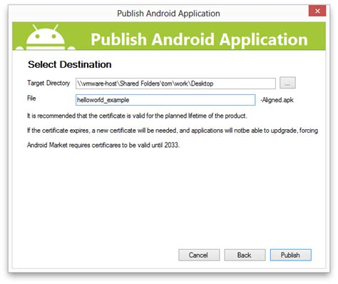 android studio apk part 2 signing the android application package xamarin