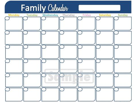 family calendar template family organizer binder printables just b cause