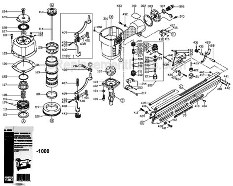 porter cable fr parts list  diagram type