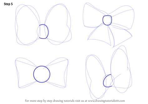 How To Draw Bows Step By Step