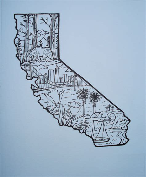 state tattoo designs california state outline with classroom ideas