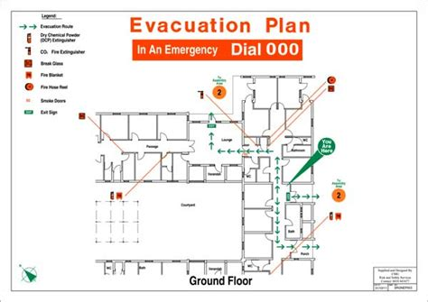 Day Care Centre Floor Plans by Evacuation Diagrams Cmg Fire And Safety Services