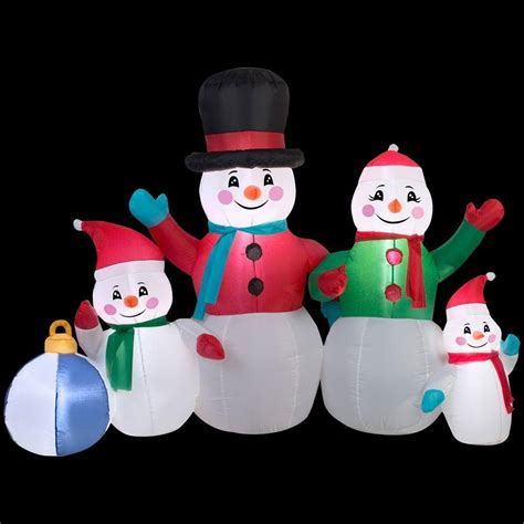 Home Depot Inflatable Christmas Decorations Airblown Inflatable Snowman Family Foto 2017