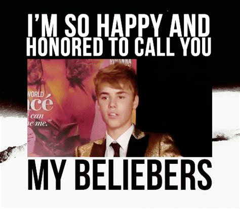 Im Honored by Quot I M So Happy And Honored To Call You My Beliebers