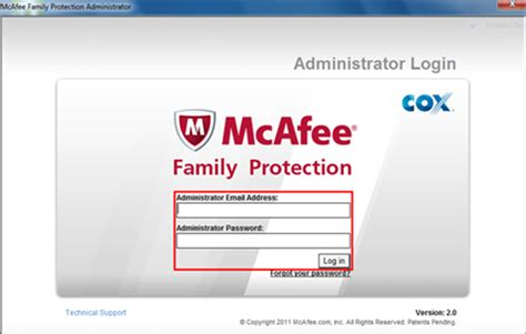 uninstalling mcafee family protection 174 for windows