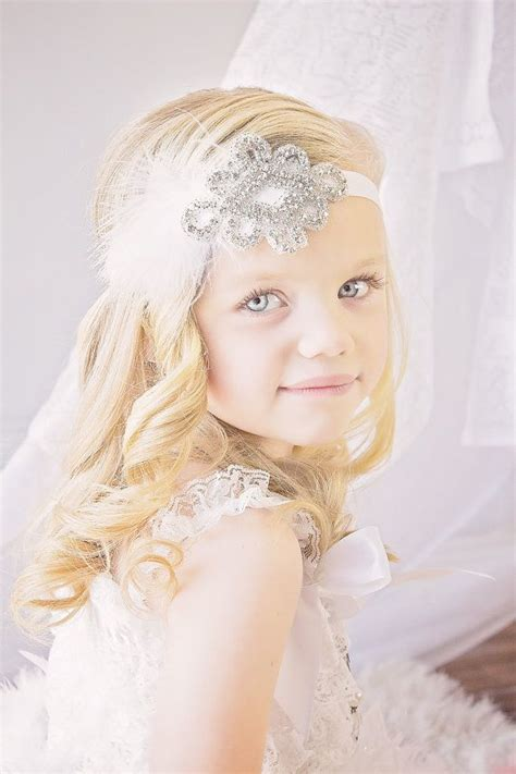 adorable girls headband of ivory silk flowers great for best 25 gatsby flower girl dress ideas on pinterest