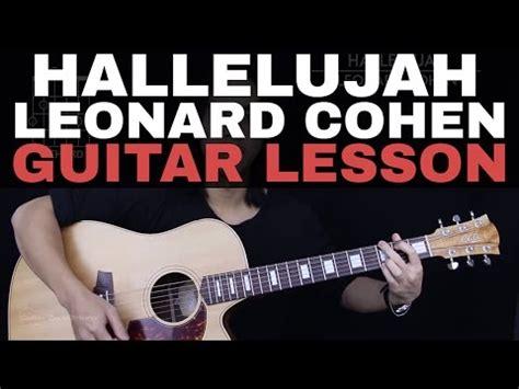 tutorial guitar hallelujah hallelujah leonard cohen fingerstyle guitar cover by