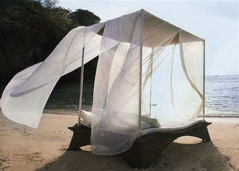 bed on the beach romantic canopy bed outdoors interior decorating and