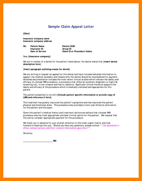 Appeal Letter For Medication 11 Appeal Letter Sle Teller Resume