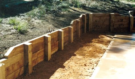 Sleeper Wall Design by Sleeper Or Railway Ties Retaining Wall