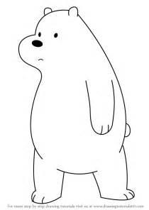 learn draw ice bear bare bears bare bears step step drawing tutorials