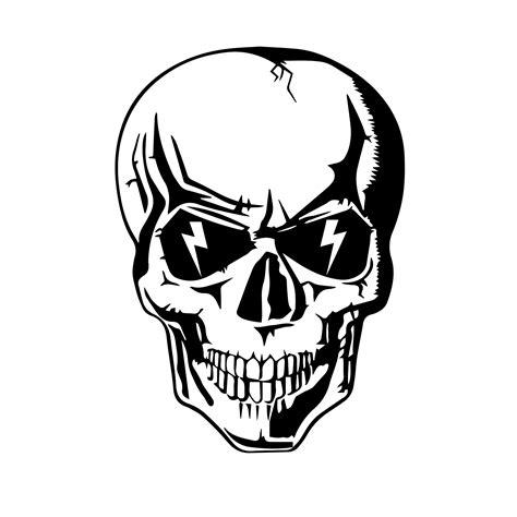 Totenkopf Sticker by Lightning Skull Hat Helmet Sticker