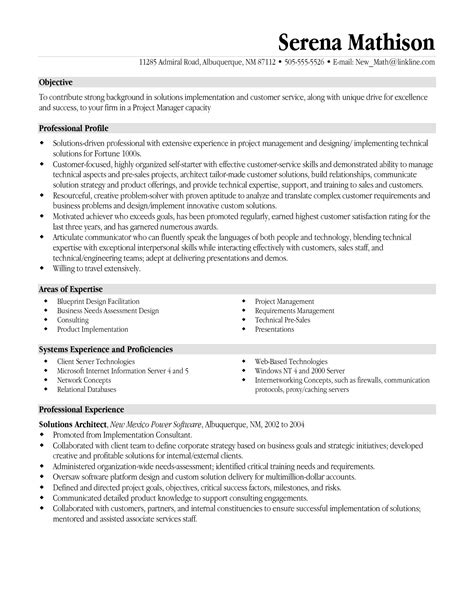 management resume objective statement the letter sle