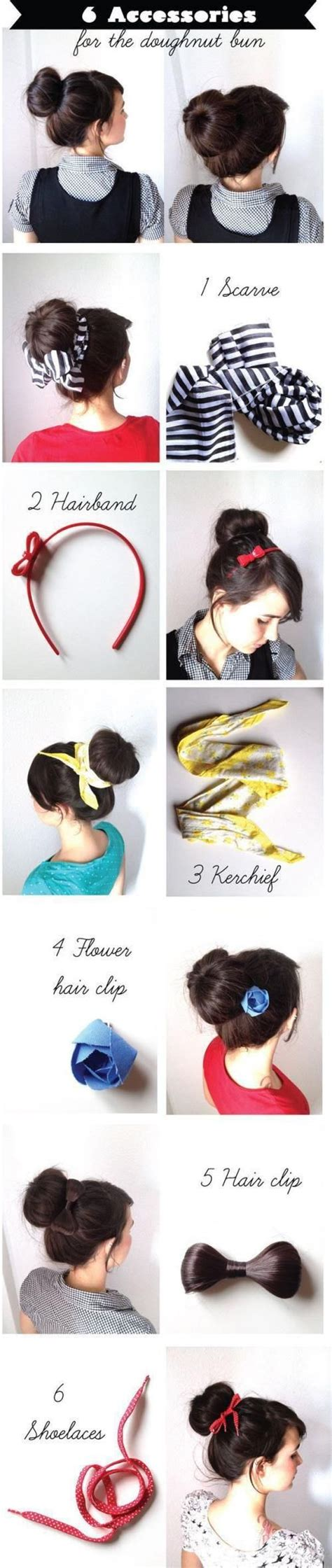 Hairstyles Accessories Bun Recipe by 6 Accessories For The Doughnut Bun Pictures Photos And