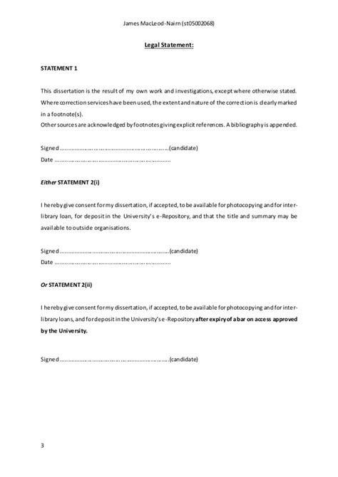 msc dissertation macleod nairn msc dissertation
