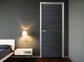 Modern interior doors with aluminum frames
