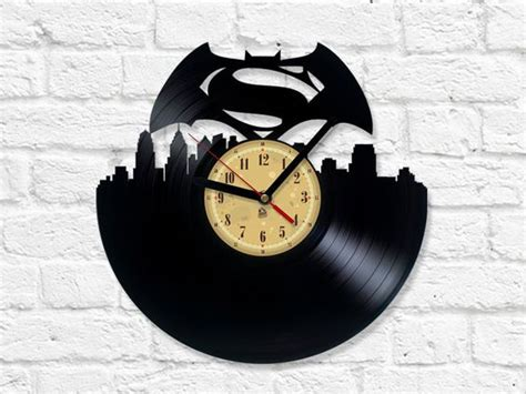 The Batman Clock Gives You Cool Credentials by Vinyl Clock Batman V Superman Of Justice