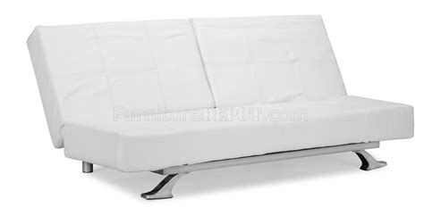 White Futon With Arms White Futon With Arms White Leatherette Modern Convertible Sofa Bed With Folding Arms