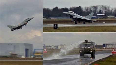 aeroporto militare di cameri volo prova eurofighter typhoon e dimostrazione antincendio