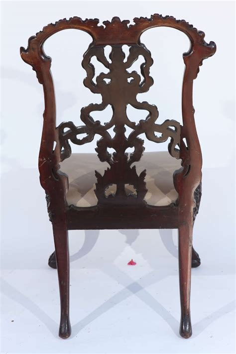 chinese chippendale side desk chair at 1stdibs single 19th century chinese chippendale side chair for