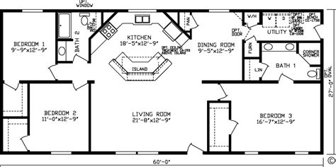 3 bedroom 2 bath floor plan floor plans northland manufactured home sales inc