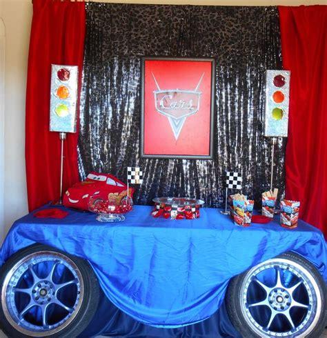 car themed curtains pixar cars themed birthday party backdrop and table decor