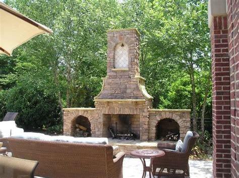 custom backyard designs outdoor fireplace chattanooga tn photo gallery