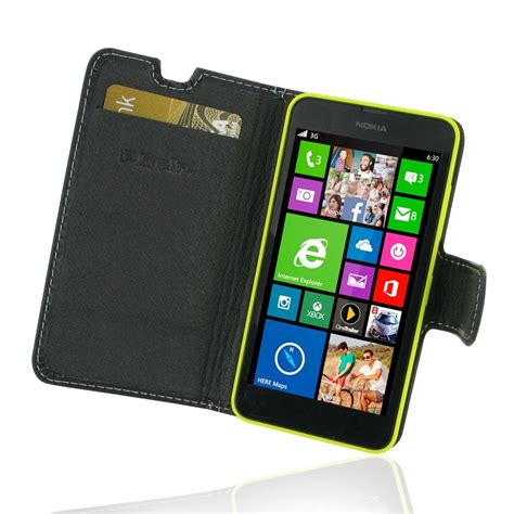 Flip Nokia 635 nokia lumia 630 635 leather flip carry cover pdair sleeve pouch
