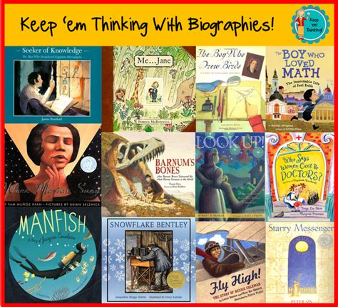 picture book biographies keep em thinking keep em thinking with biographies