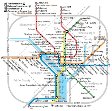 Dc Metro Map Pdf by Usa 2007